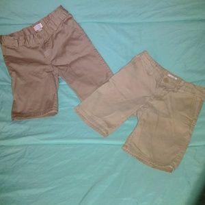 2 pairs of khaki shorts